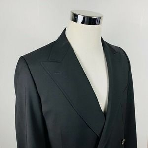 Z Zegna 40R Sport Coat Double Breasted Black